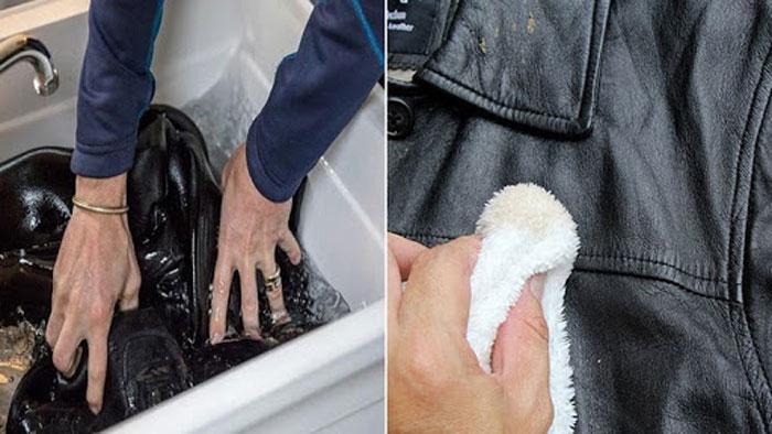 Giặt áo da không đúng cách dẫn đến tình trạng hư hỏng nặng