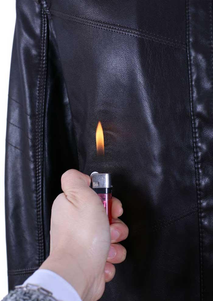 Tuyệt đối không hơ lửa để kiểm tra áo khoác da