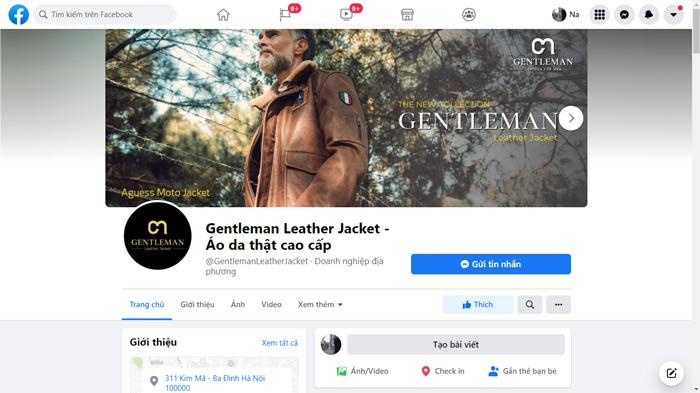 Fanpage Gentleman luôn cập nhật mẫu mới và tư vấn cho khách hàng