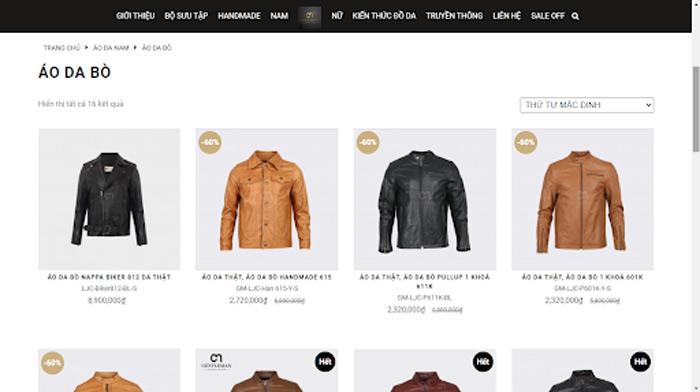 Tận hưởng dịch vụ và sản phẩm tốt nhất của Gentleman trên website