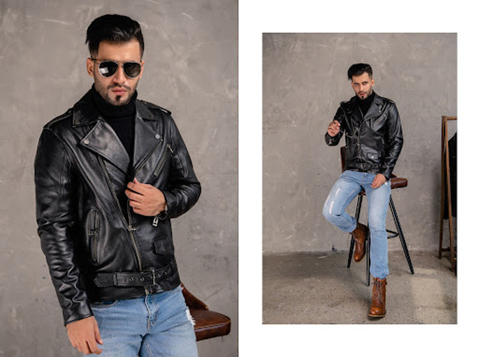 Áo da Biker Jacket phù hợp với các quý ông phong trần, bụi bặm