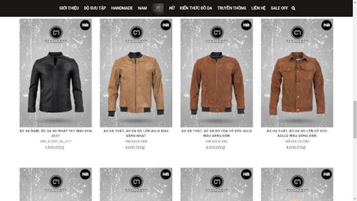 Hãy tham khảo những mẫu áo da lộn trên website của Gentleman