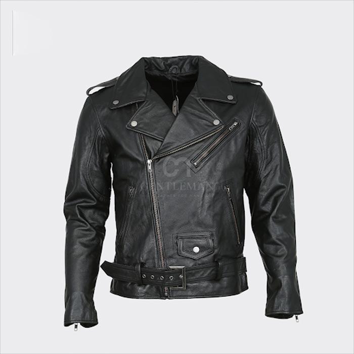 Mẫu áo da bò Nappa Biker được nhiều chàng trai theo đuổi phong cách tự do, trẻ trung và mạnh mẽ lựa chọn