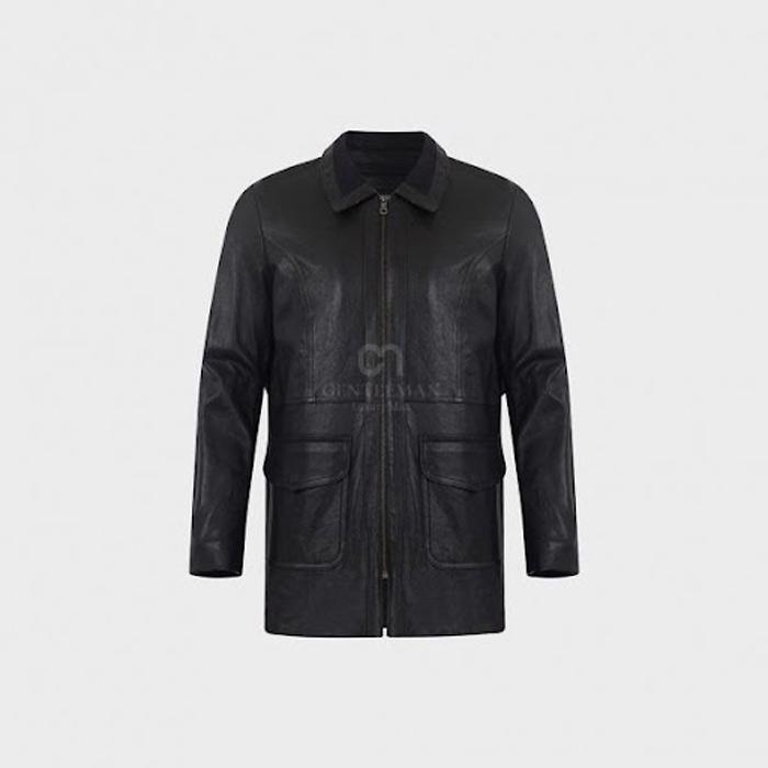 Áo da măng tô rất phù hợp mặc trong thời tiết lạnh giá, nhưng vẫn toát lên khí phách nam tính