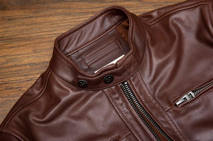 Kể cả những chi tiết nhỏ nhất cũng phản ánh chất lượng của áo da nam đó có xịn hay không