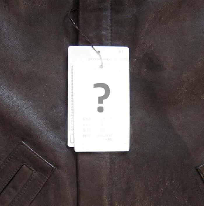 Những chiếc tag giá bằng giấy sẽ được tìm thấy bên trong áo, giúp người mua xác định được giá trị của áo