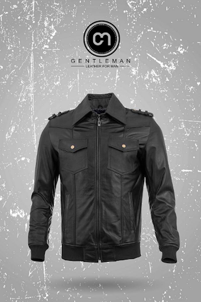 Thiết kế áo da bò cổ Đức là lựa chọn hoàn hảo cho những chàng trai năng động và bụi bặm