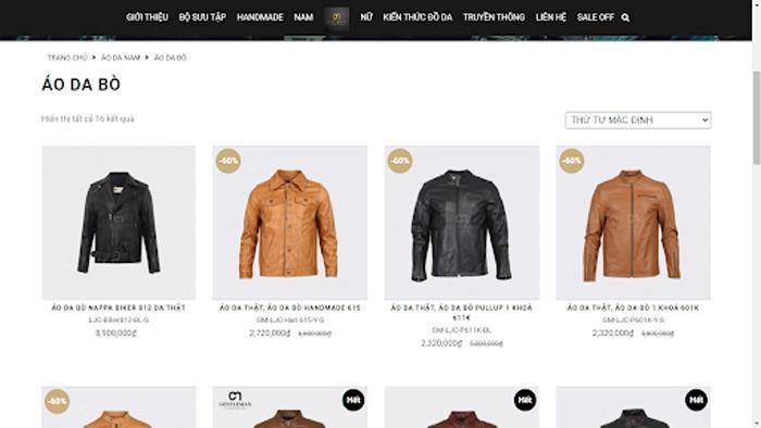 Gentleman có đa dạng mẫu mã áo da bò cho quý ông lựa chọn trên website