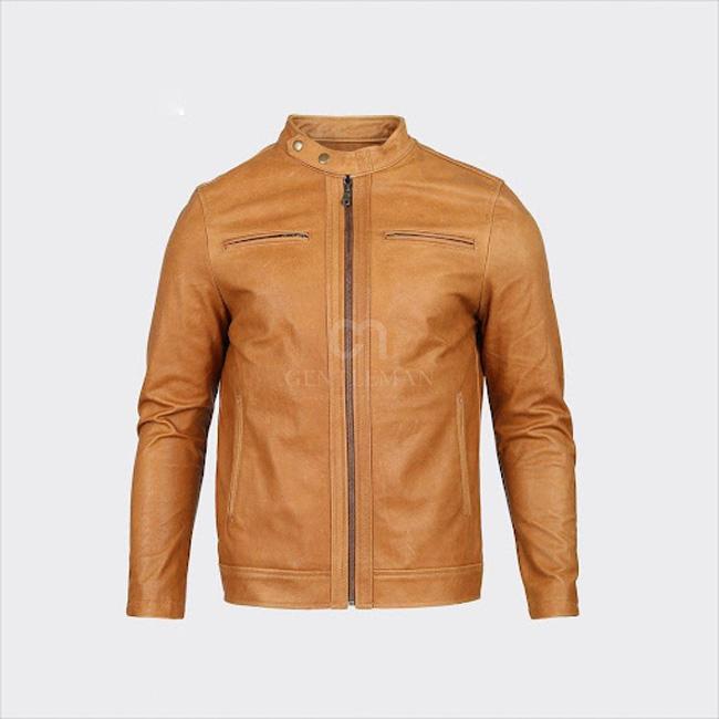 Thiết kế áo da nam Racer Jacket đơn giản càng làm toát lên khí chất bản lĩnh, can trường của cánh mày râu